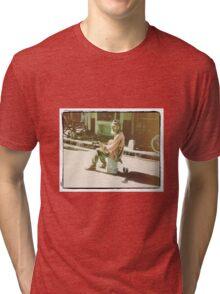 """Bucket Blues"" Tri-blend T-Shirt"