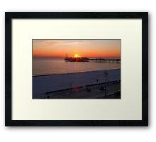 Winter sunset Framed Print