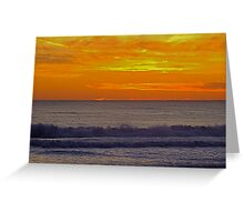 Sunset at Carcavelos Greeting Card