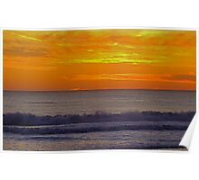 Sunset at Carcavelos Poster