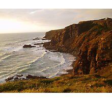 Cliffs of Devon sunset. Photographic Print