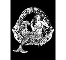 Mermaid and Shark Jaws Photographic Print