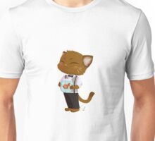 Cat and His Pet Fish Unisex T-Shirt