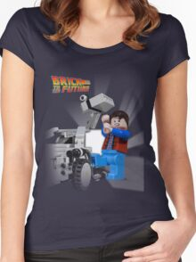 Brick to the Future Women's Fitted Scoop T-Shirt