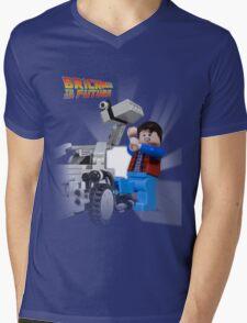 Brick to the Future Mens V-Neck T-Shirt