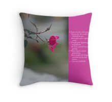 forked end and beginning Throw Pillow