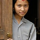 Nepali girl by Konstantinos Arvanitopoulos