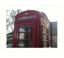 Red telephone box in London Art Print