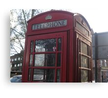 Red telephone box in London Canvas Print