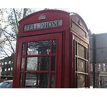 Red telephone box in London Photographic Print