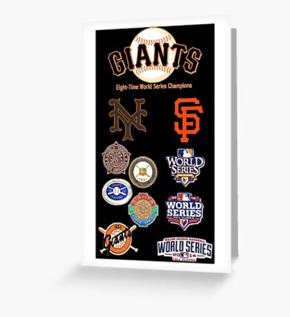 Giants 8-Time World Series Champions Greeting Card