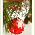 Merry Christmas Red Bubble Friends by Trudy Wilkerson