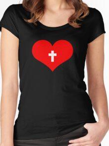 Cross Love Women's Fitted Scoop T-Shirt
