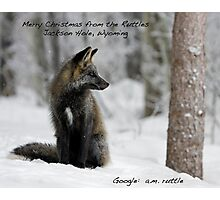 Merry Christmas to All... from Jackson Hole, Wyoming Photographic Print