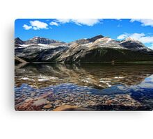 Bow Lake Painted Canvas Print