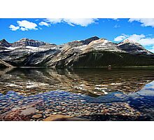 Bow Lake Painted Photographic Print