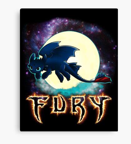 Toothless Dragon Night Fury Canvas Print