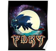Toothless Dragon Night Fury Poster