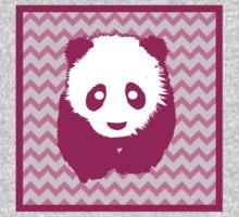 Violet and Pink Panda Bear One Piece - Long Sleeve