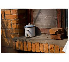cup on sill Poster