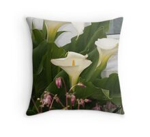 Calla Lilies ~ Kilronan, Inis Mor, Aran Islands, Ireland Throw Pillow