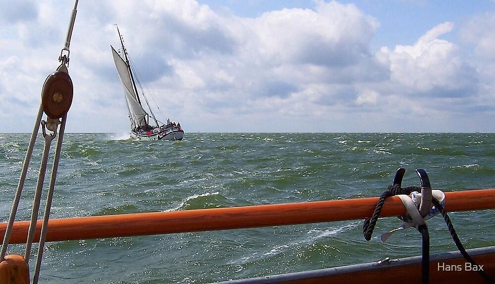 Sailing on the IJsselmeer by Hans Bax