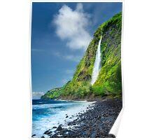 Waipio Valley - Kaluahine Falls Poster