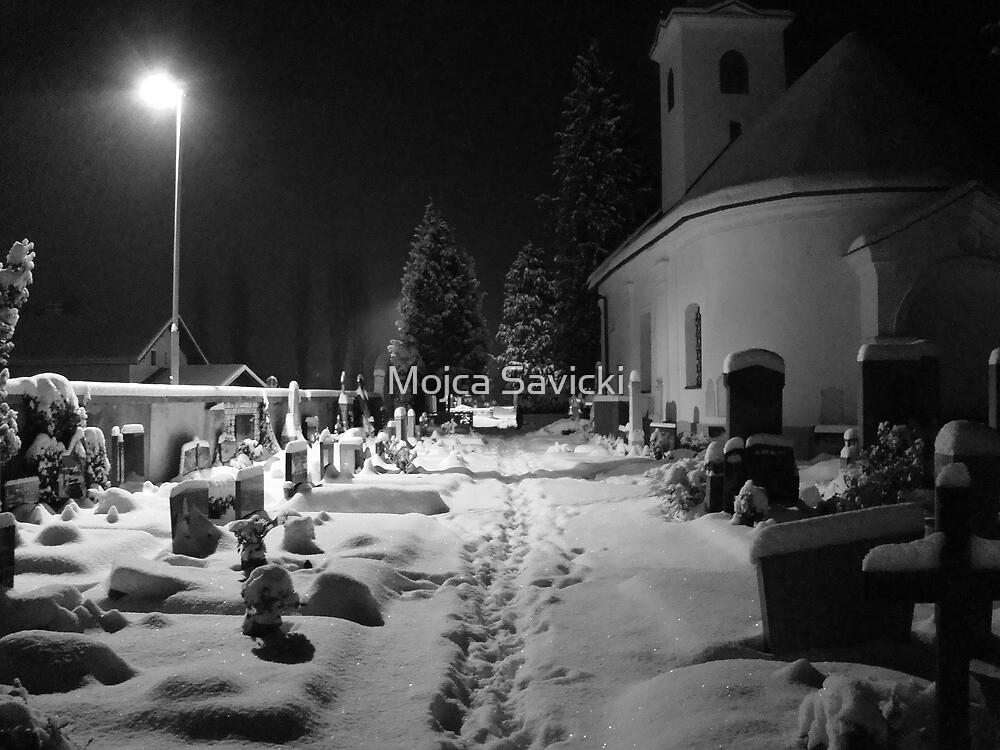 Footsteps at the Graveyard by Mojca Savicki