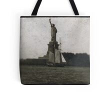 statue of liberty post card Tote Bag