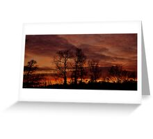 Winter Sunset #2 Greeting Card