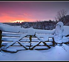 Snowy sunrise over Settle by Shaun Whiteman