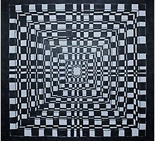 Checkered Abyss Photographic Print