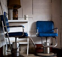 Blue Chairs in a Dusty Pool Hall by thomasjack
