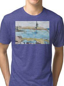 Lone Pine, Across Emily Bay Tri-blend T-Shirt