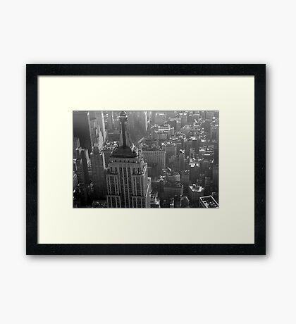 Higher than Empire State Framed Print