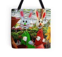 Bunnies with Baskets...Easter is Coming! Tote Bag