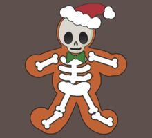 Gingerbread Man Skeleton One Piece - Short Sleeve