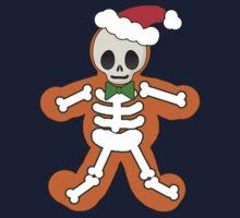 Gingerbread Man Skeleton Kids Tee