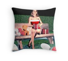 Christmas Carol and Valentine 2 Throw Pillow