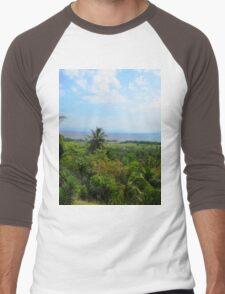 a historic Cuba landscape Men's Baseball ¾ T-Shirt