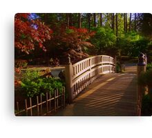 Bridge in Japanese Garden Canvas Print