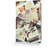 taylor swift 1989 signature Greeting Card