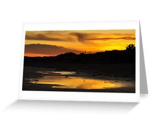 Amber Sunset on Donabate Strand. Greeting Card