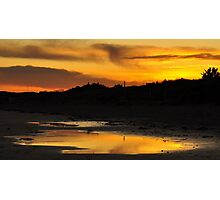 Amber Sunset on Donabate Strand. Photographic Print
