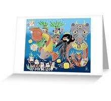 the koi the crow and elephant shaman Greeting Card