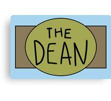 The Dean Championship Belt Canvas Print