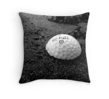Golf Ball in the Sand Throw Pillow