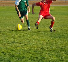 Soccer Players Battling for Ball by atoth
