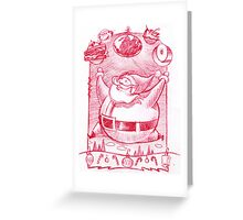 Big Santa gifts Greeting Card