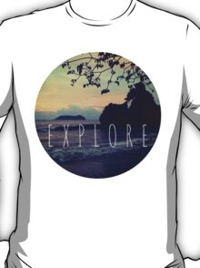 Explore Costa Rican Beach Print T-Shirt